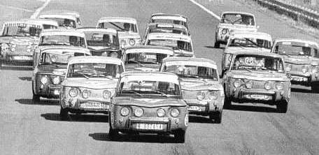 Copa Renault 8 TS, años 60.
