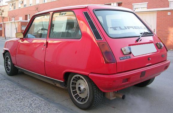 Renault 5 Copa Turbo. Vista trasera.