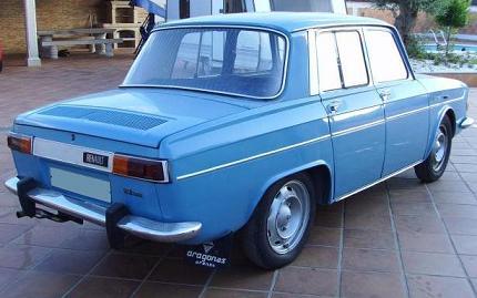 Renault 10. Vista Trasera