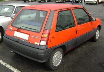Renault 5 MkII Supercinco. Vista trasera
