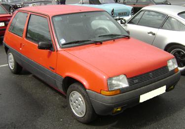 Renault 5 MkII Supercinco. Vista Frontal