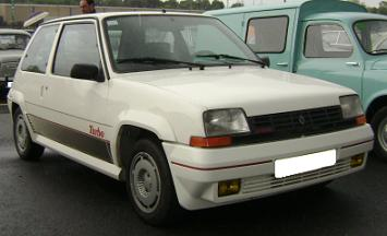 Renault 5 GT Turbo. Vista frontal