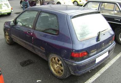 Renault Clio Williams. Vista trasera.