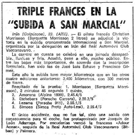 Recorte de prensa El Mundo Deportivo (1.974)