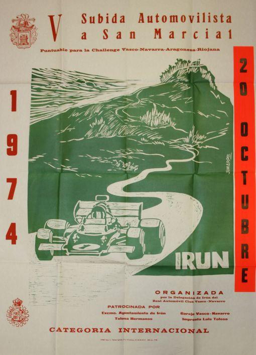 Cartel V Subida Automovilística a San Marcial (1.974)