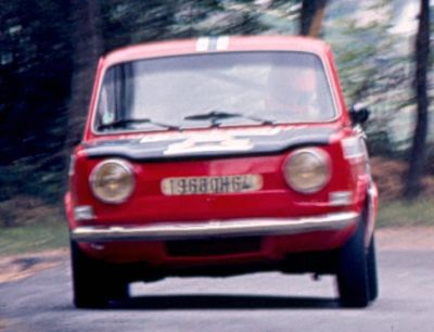 J. Larreguy (Simca Rallye) Foto; F. Iguiñiz