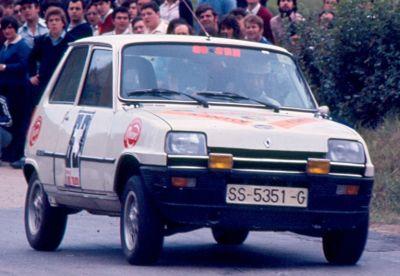 L.F. Aristondo (Renault 5 TS) Foto; F. Iguiñiz