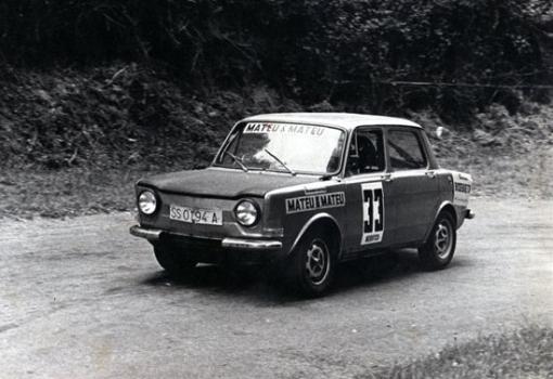 Alberto Roura (SIMCA Rallye)