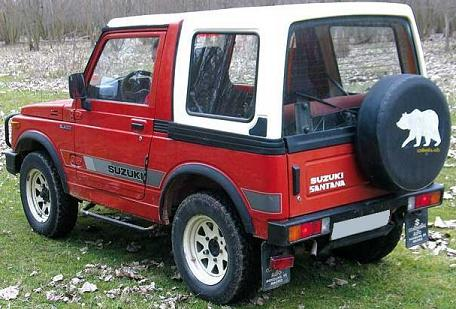 Suzuki Santana SJ410 de 1.985. Vista trasera.