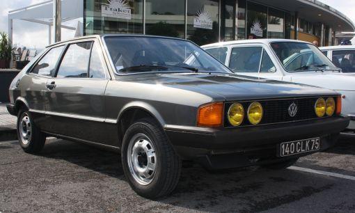 Volkswagen Scirocco MkI. Vista frontal.