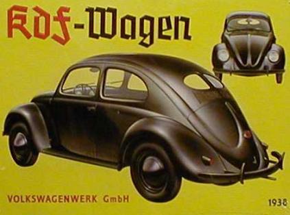 Cartel publicitario Volkswagen KDF