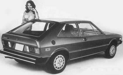 Volkswagen Scirocco mkI. Vista trasera