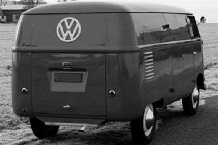 Volswagen Transporter T1. Vista trasera.